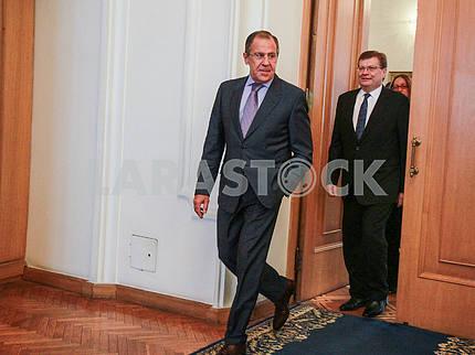 Sergey Lavrov and Konstantin Grishchenko