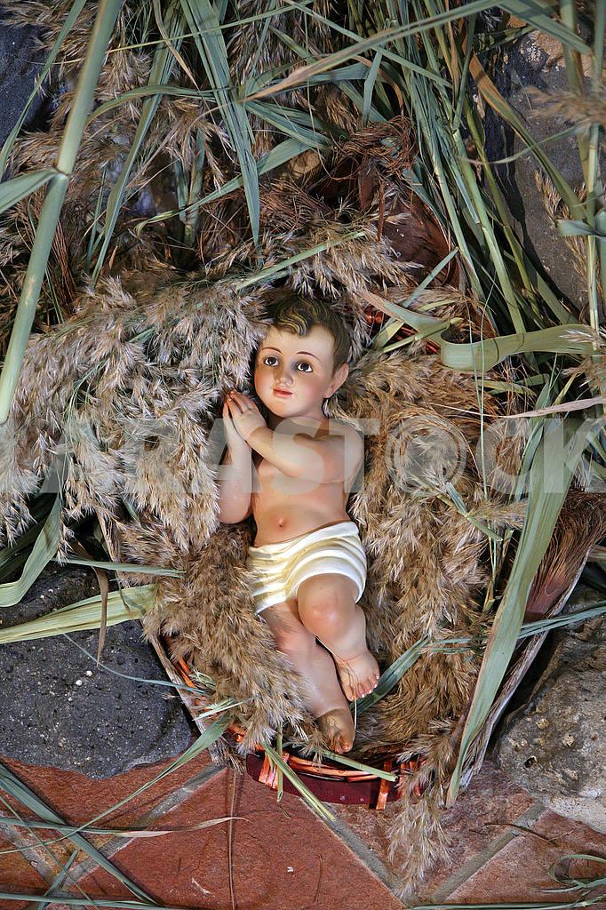 A baby Jesus figure on Christmas — Image 52203