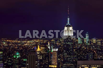 Красота ночного Нью-Йорка. США
