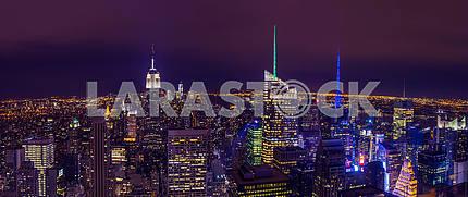New York night. USA