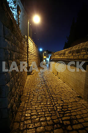 View of an old Cana street, Israel