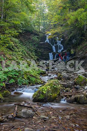 Waterfall Shipot. Transcarpathian region. Ukraine