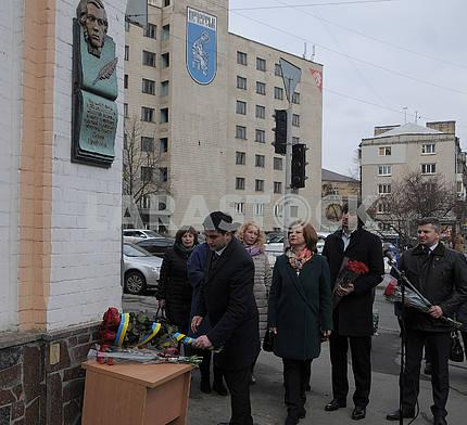 Opening of the memorial plaque to the writer Eugene Grebinka
