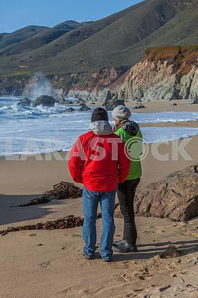 Tourists on holiday. California