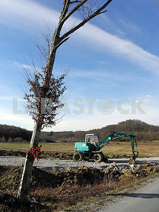 Springtime is coming,early messengers,road building,Croatia,2