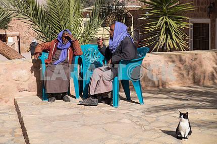Бедуины возле монастыря Святой Екатерины