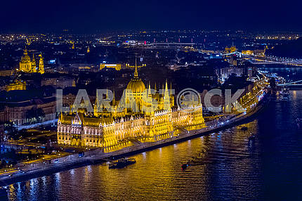 Building of the Hungarian Parliament in Budapest