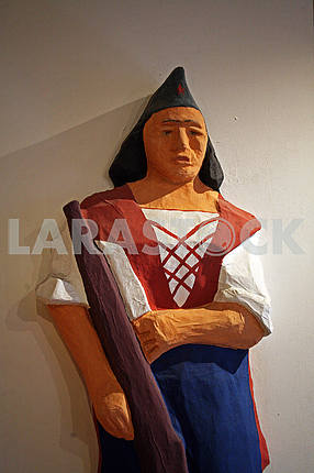 Partisan-woman,sculpture,Zagreb City Museum,Croatia