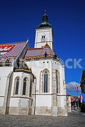 St.Mark's church,Zagreb Upper town,Croatia