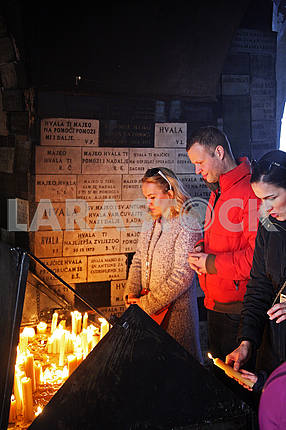 Stone Gate,Zagreb,candles dedicated to St.Mary,Croatia,2