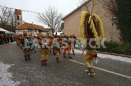 Carnival near the Weim am Rhein (Baden-Württemberg).