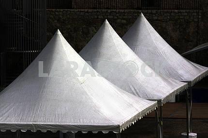 Three canvas roofs