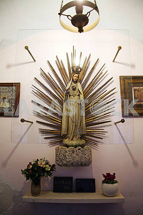 St.Mary's figure,church in Zagreb,Croatia