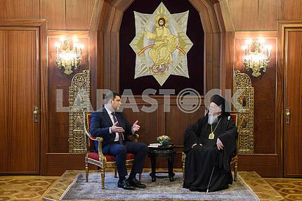 Vladimir Groisman and Patriarch Bartholomew