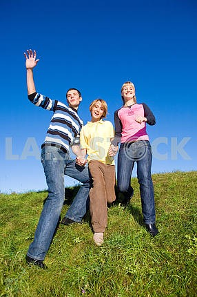 Team winning jump