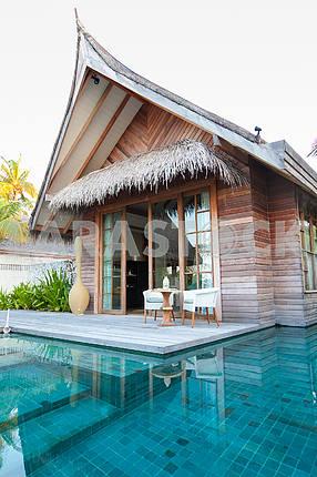 Villas in the lagoon