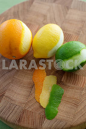 Апельсин, лимон и лимон лайм