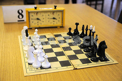 Chessboard with figures