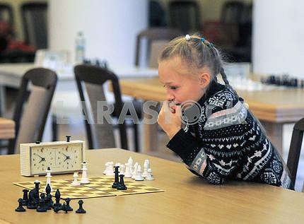 Girls at the chess tournament