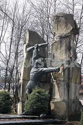 Soviet war monument partisans
