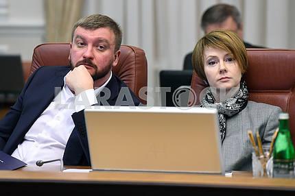 Pavlo Petrenko ta Olena Zerkal at the Cabinet