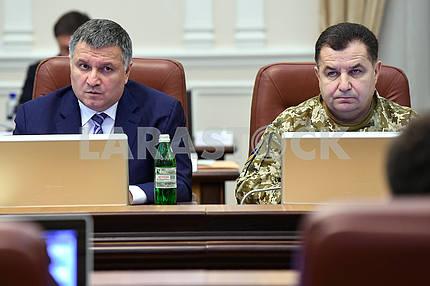Arsen Avakov and Stepan Poltorak at the Cabinet