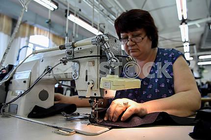 Seamstress at the factory
