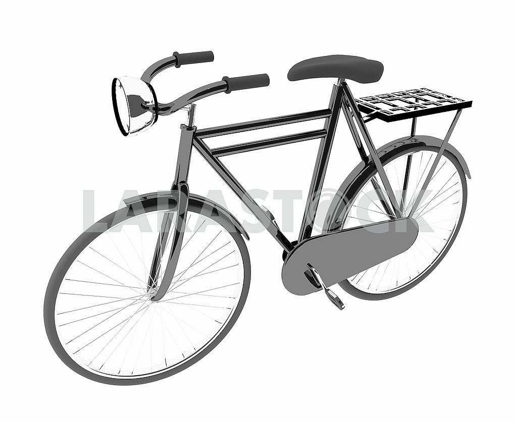 Black bike classic on isolated white — Image 53484