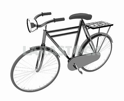 black bike classic on isolated white