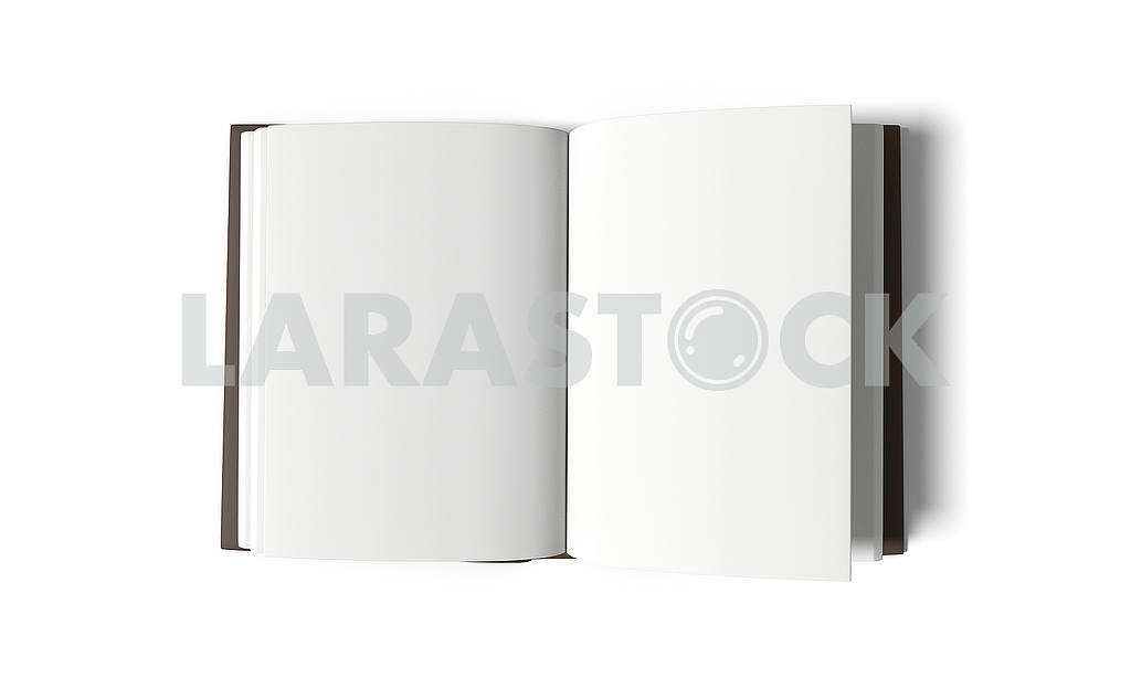Empty white book on isolated white background in 3D rendering — Image 53493