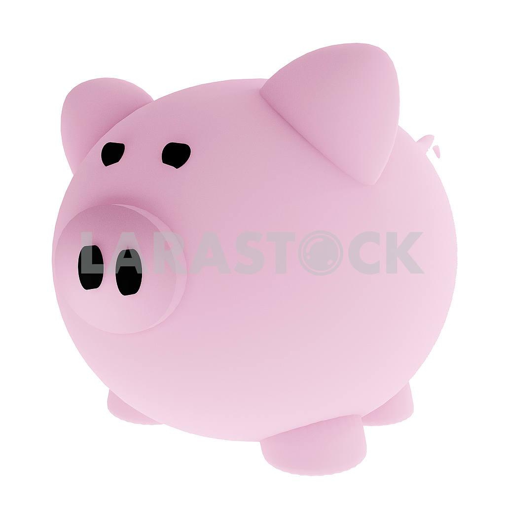 Piggy bank for savings in 3D render image — Image 53498