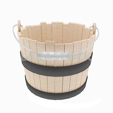 Деревянный ковш объект на изолированных белый в 3D иллюстрации