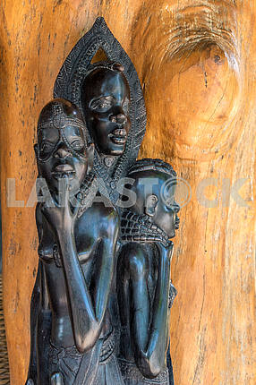 Wooden carving in Zanzibar