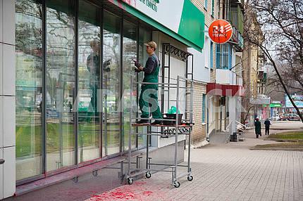 Attack on Russian Sberbank in Kramatorsk