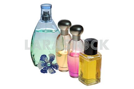 Set of perfume with decorative elements