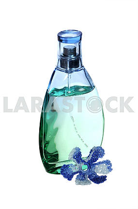 perfume bottle with an element of decor