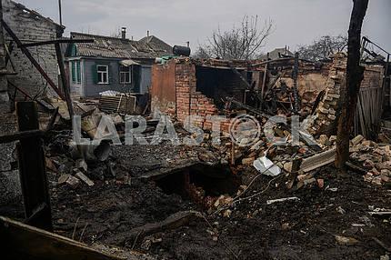 Ruined houses in Balaklei