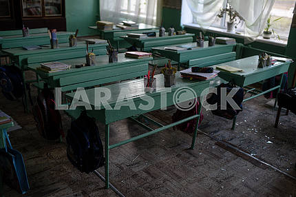 School desks in Balakley