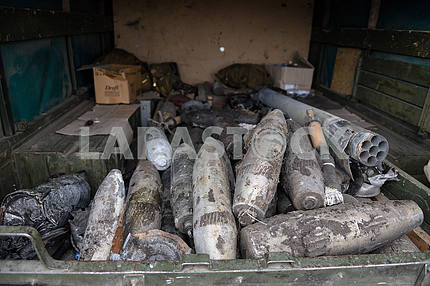 Shells collected by rescuers in Balaklei