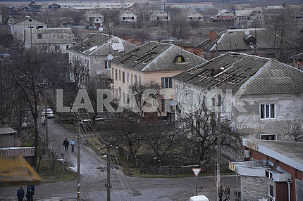 Roofs of houses in Balaklei