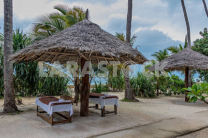 Rest zone near the Indian Ocean on Zanzibar