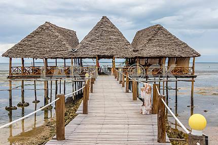 The pier near the ocean in Zanzibar