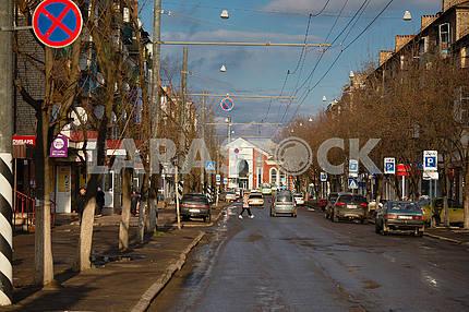 Вид на железнодорожный вокзал Краматорска