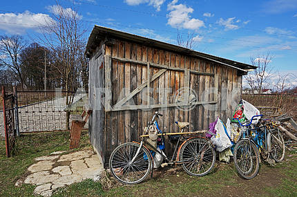 The three old bicycles