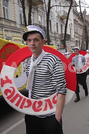 Символ юморины моряк со спасательным кругом