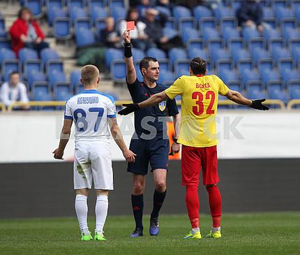 Judge Nikolay Krivonosov removes the player