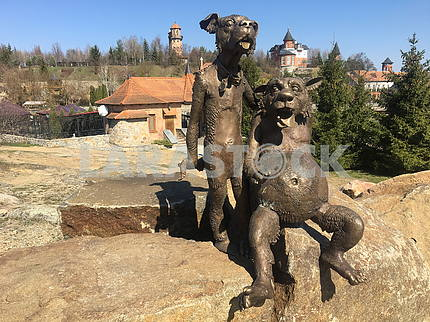 Monument to the characters of the picture There was a dog