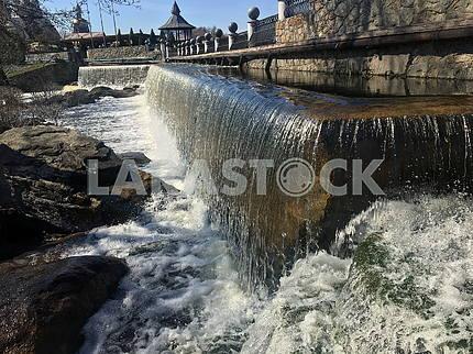 Waterfall in the village of Buki