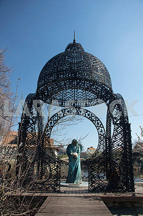 Forged arbor in the landscape park