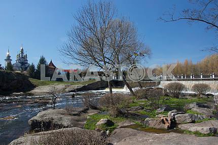 Landscaped park in the village of Buki